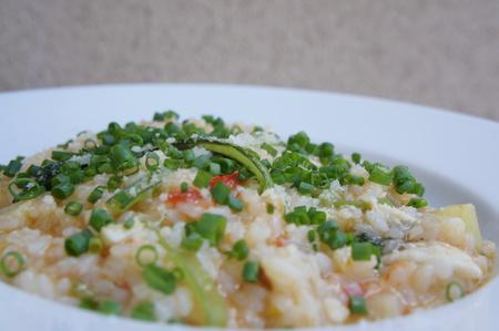 真鯛と小松菜のトマトリゾット